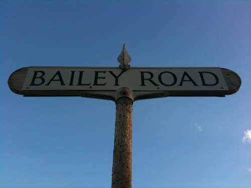 Wayfinding and Typographic Signs - bailey-road-signpost