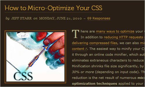 How to Micro-Optimize Your CSS