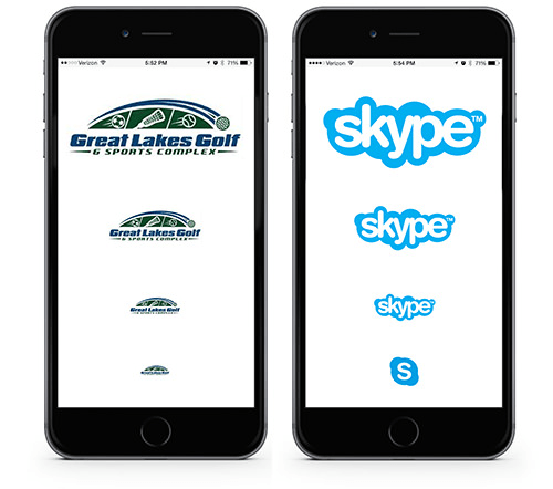 Logos Viewed on Mobile Devices