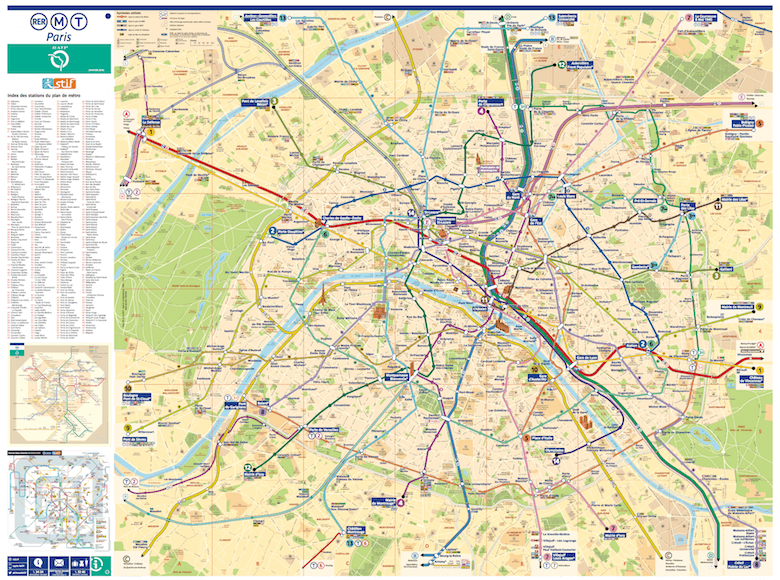 Paris metro map (official version)