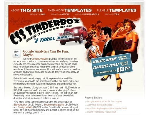Retro and Vintage Designs - CSS Tinderbox