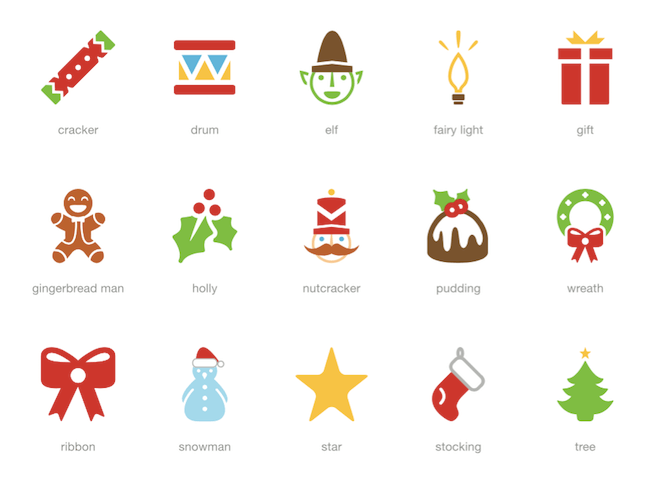 Winter And Holiday Inspired Icon Sets Christmas Freebies