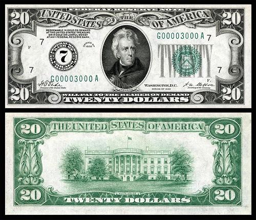 1928 Twenty Dollar Bill
