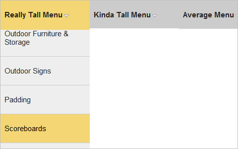 Solution For Very Long Dropdown Menus