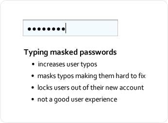 Typing Masked Passwords