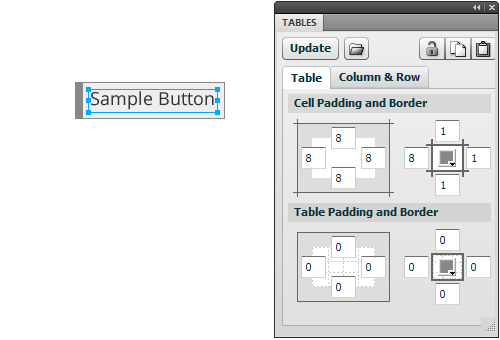 Tables Panel: Creating Dynamically-Sized Buttons Quickly.