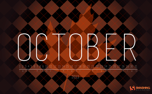 Desktop Wallpaper Calendar: October 2013