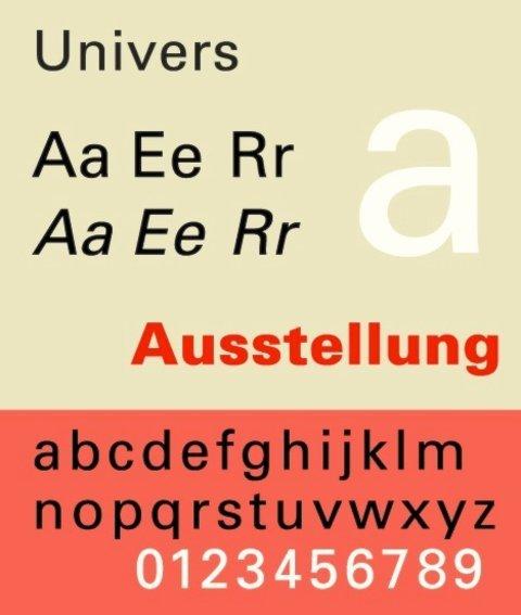 Adrian Frutiger's work