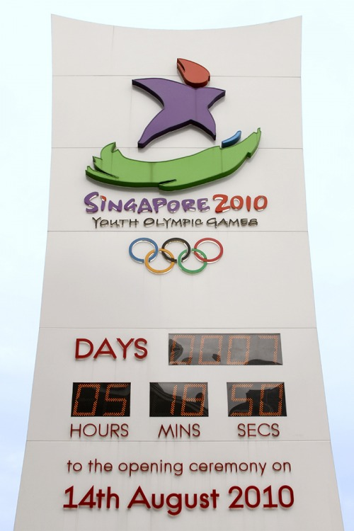 Wayfinding and Typographic Signs - singapore2010-yog-countdown-timer