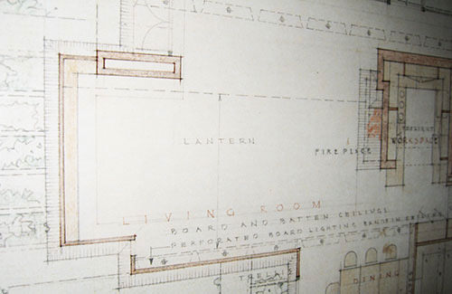 Wright's layout drawing