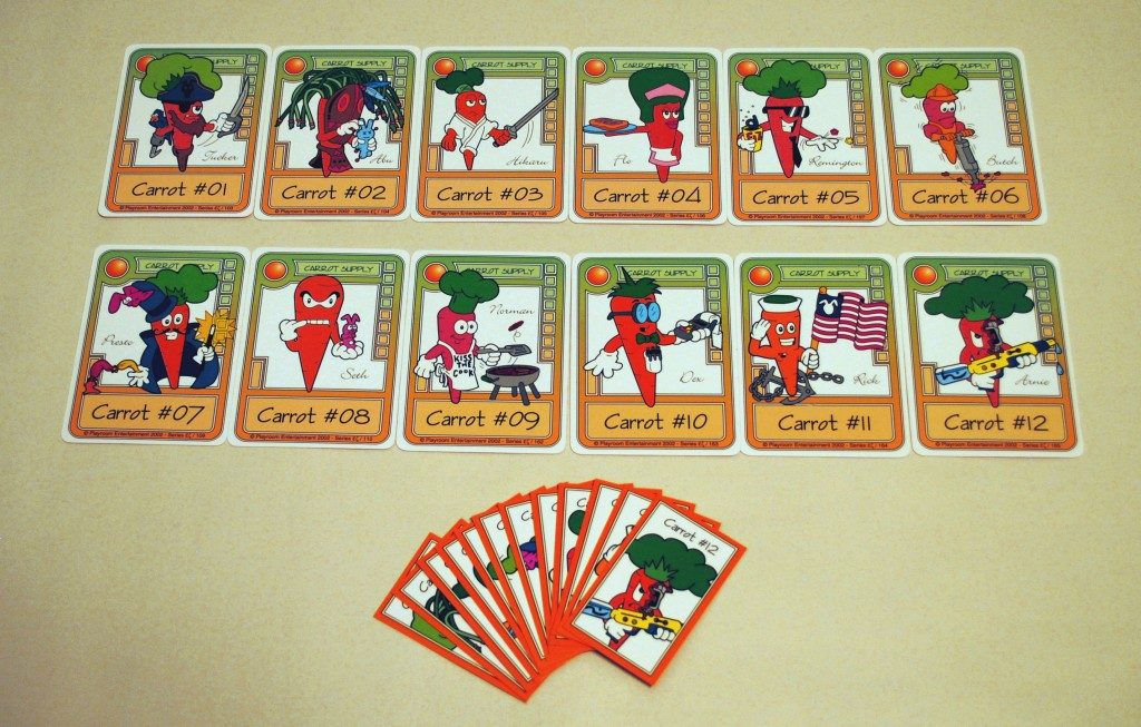 Picture of the carrot cards in Killer Bunnies