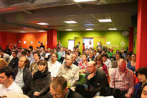 People gathered at WordCamp Netherlands 2012.