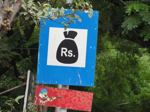 Wayfinding and Typographic Signs - its-all-about-money-honey