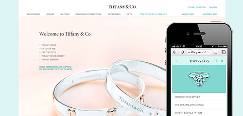 Responsive design has been adopted by well known brands such as Tiffany & Co.