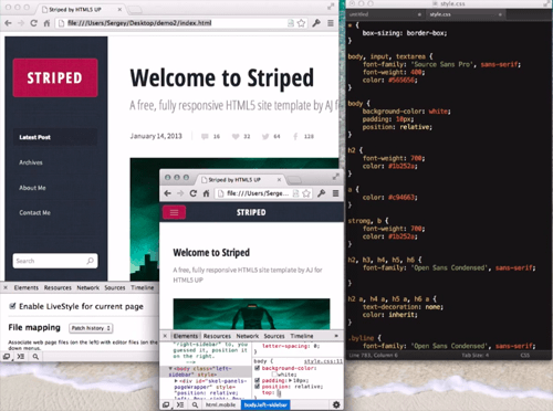 Introducing LiveStyle: Better, Stronger And Smarter CSS Live Reload