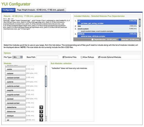 The YUI Configurator