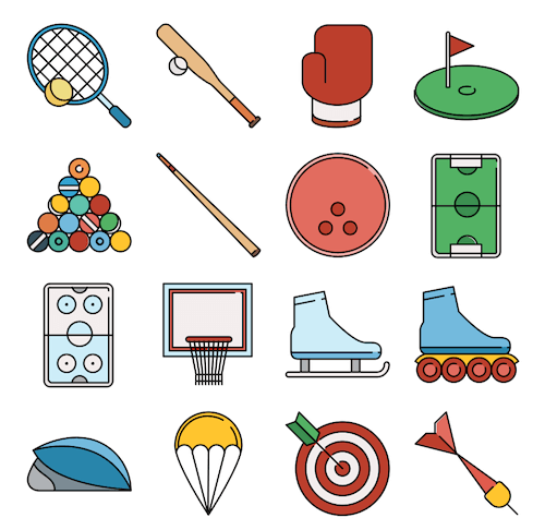 Responsive Sports Icons