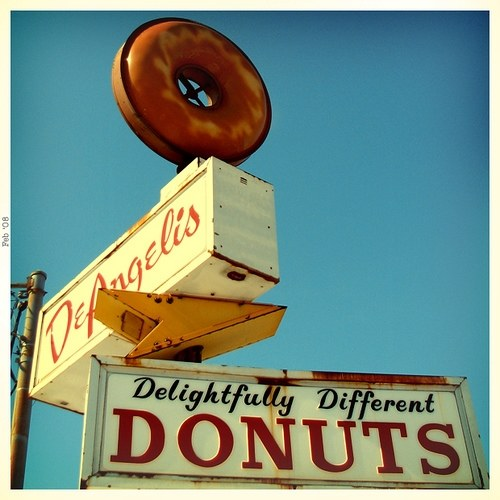 Vintage Signage - deangelis (delightfully different) donuts