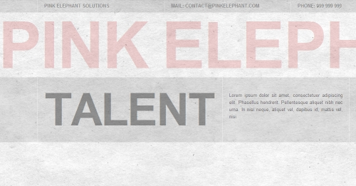 Type Layout For Free Download - Pink Elephant Solutions