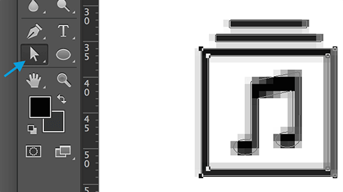 When you paste the icon in Photoshop you will probably see those gray pixels around the shape.