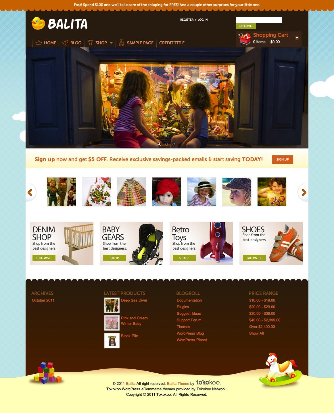 Free E-Commerce WordPress Theme: Balita — Smashing Magazine