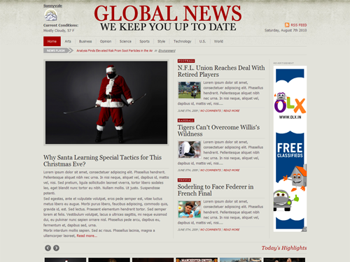 newspaper template wordpress