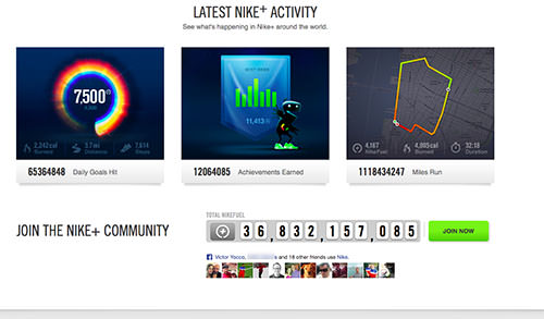 Nike+ ties millions of runners together around a common interest