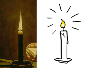 Two candles.