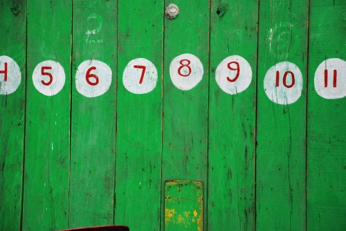 Wayfinding and Typographic Signs - numbers