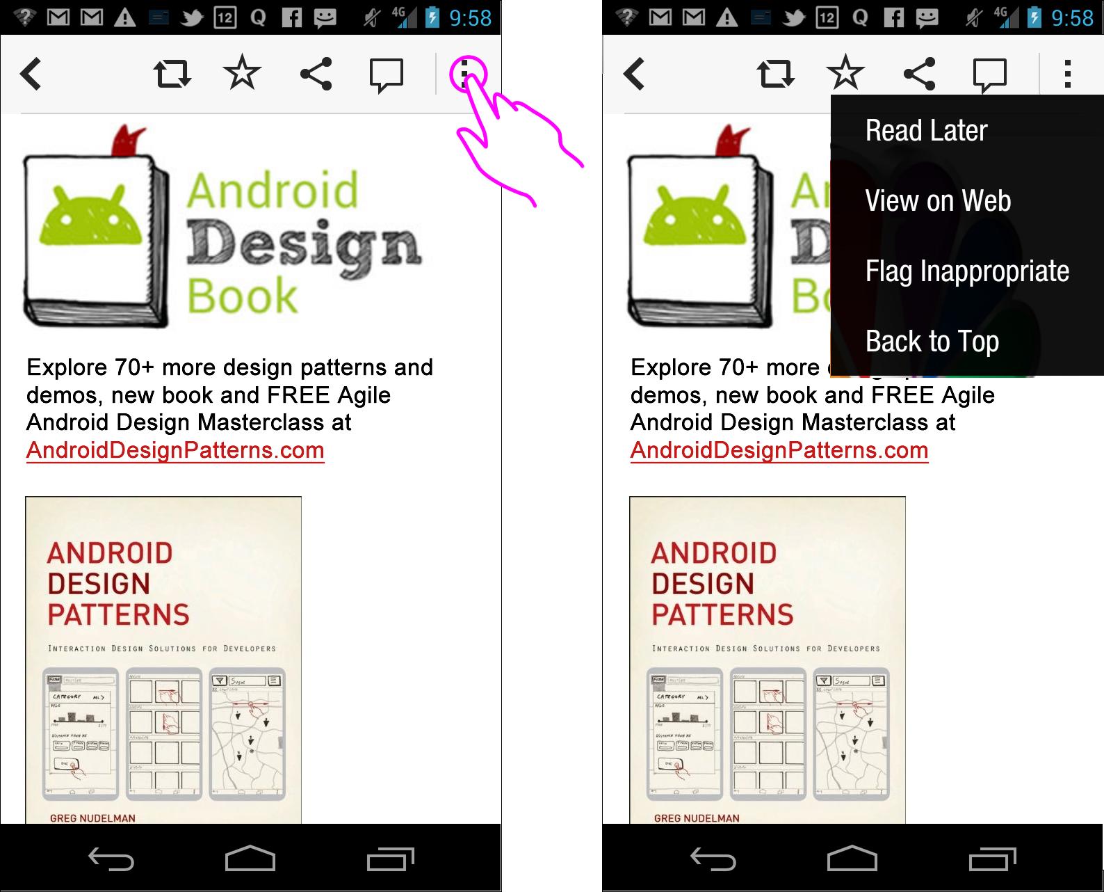C Swipe An Ergonomic Solution To Navigation Fragmentation On Android Smashing Magazine