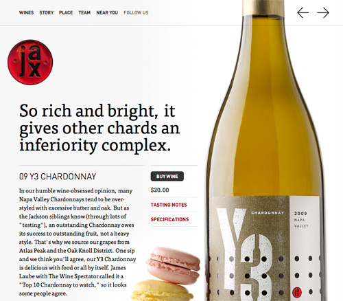 Full page slider on JaxVineyards.com