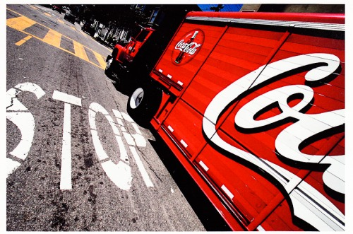 Wayfinding and Typographic Signs - stop-coke-sign