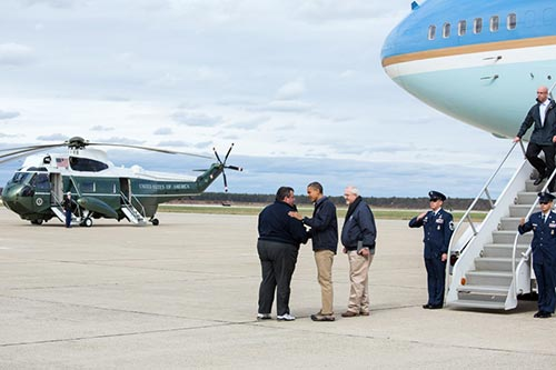 President Obama and Governor Christi