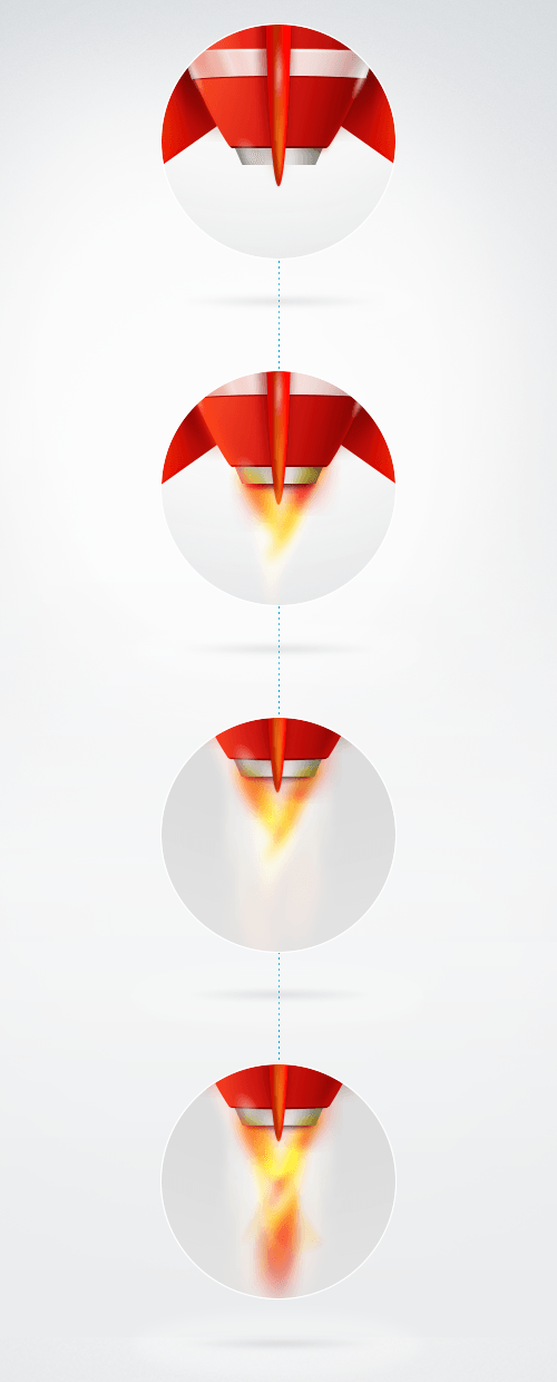 How to create the fire effect.
