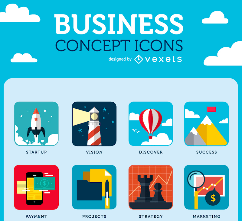 Business Concept Icons preview