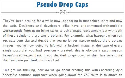 Pseudo Drop Caps