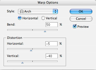 Warp Filter Options