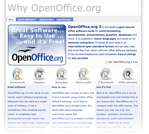 OpenOffice page