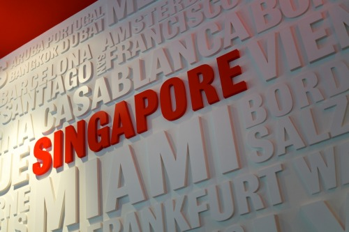Wayfinding and Typographic Signs - segafredo-singapore