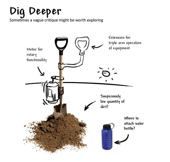 Dig Deeper When Necessary