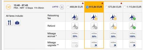 Lufthansa's widget