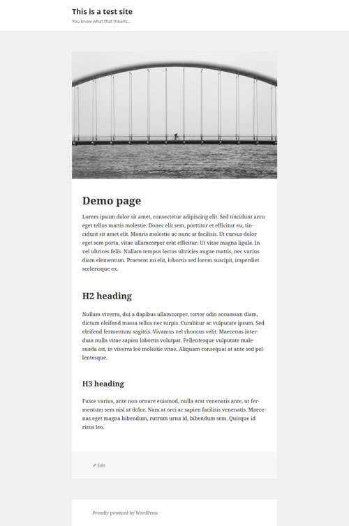 Custom full-width page template for Twenty Fifteen theme