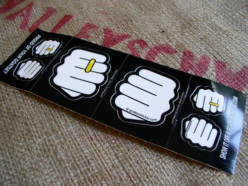 Business card design better than a plain ol business card more fist stickers colourmoves