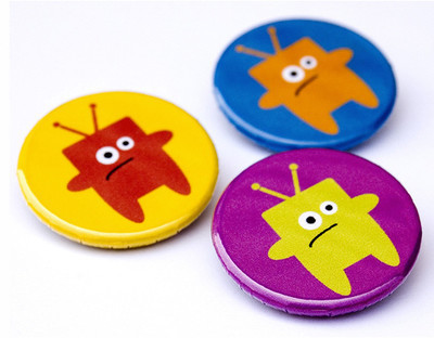 Pins, Badges and Buttons - TV Dinner Monster Pins
