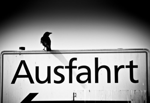 Wayfinding and Typographic Signs - ausfahrt