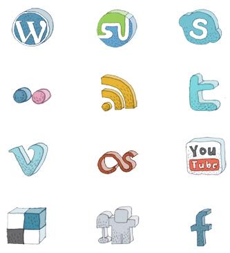 Free High Quality Icon Sets - Hand-Drawn Social Media Icon