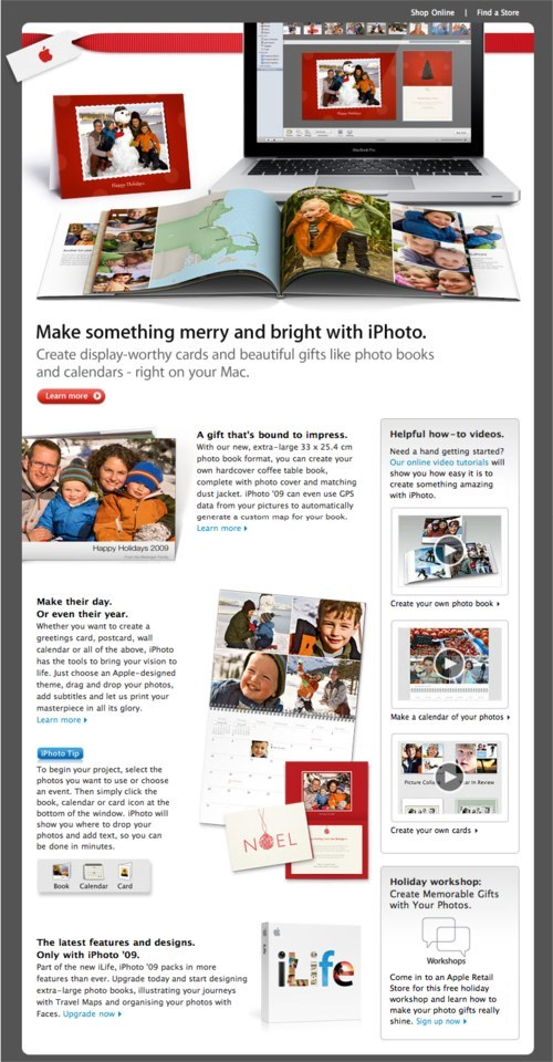 Email newsletter design guidelines and examples for Iphoto calendar templates