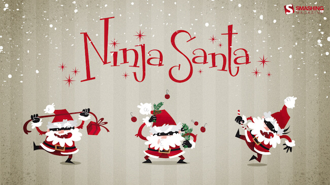 Christmas Wallpaper Calendar 2016 — Ninja Santa