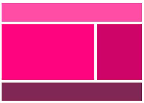 A basic webpage layout