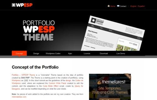 Portfolio WPESP Theme